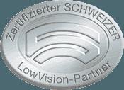 Optik Firmenich ist SILBER-zertifizierte SCHWEIZER LowVision-Partner